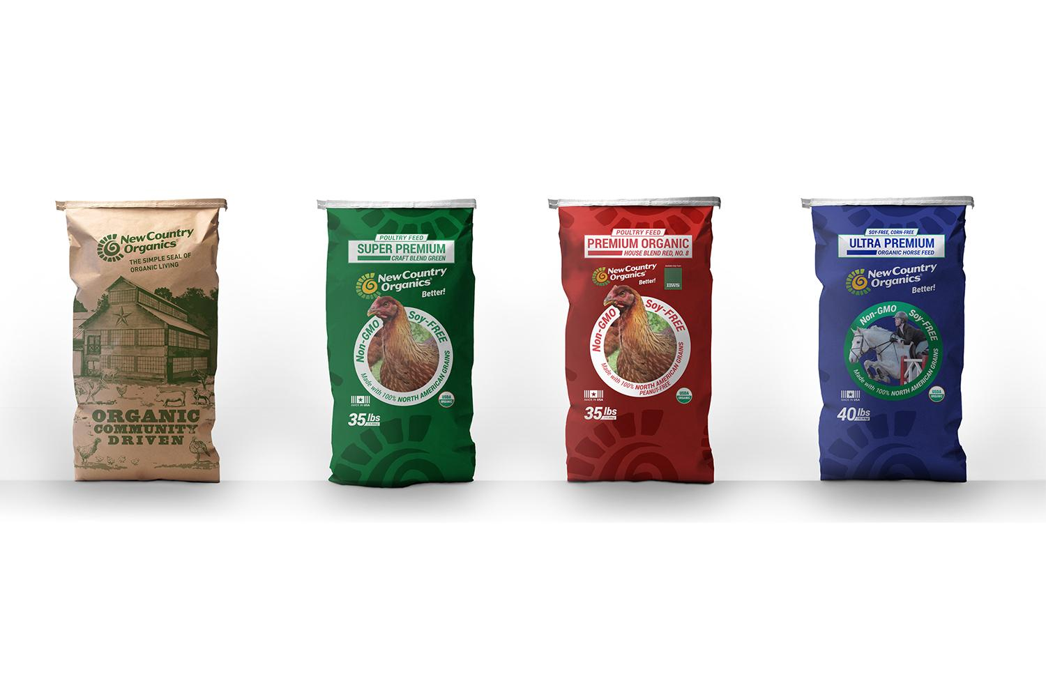 New Country Organics feed bags