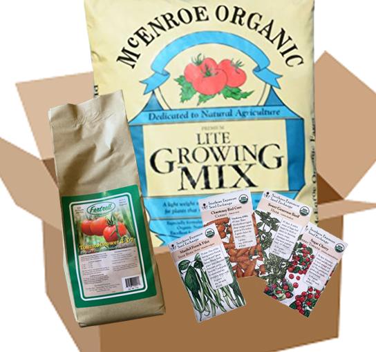 Garden Starter Kit: Soil, Seeds, and Fertilizer