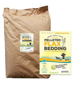 pelleted flax bedding bag