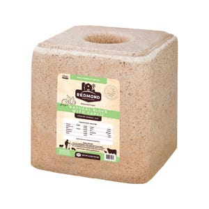 Redmond Natural Salt Block with Garlic, 44 LBs
