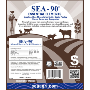 Sea-90 Essential Elements Livestock Mineral, 50 LBs