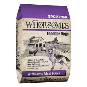 Wholesomes Lamb & Rice Dog Food, 40lb